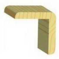 Уголок гладкий деревянный 60х60х2500