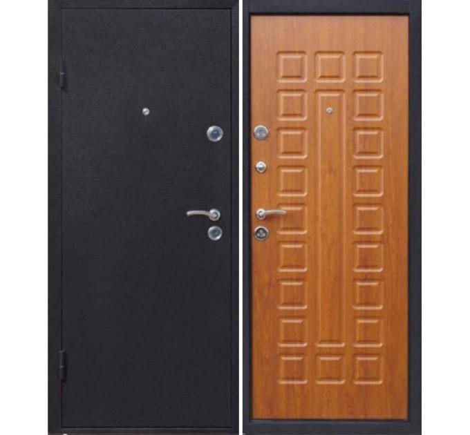 Металлическая входная дверь Йошкар с панелью Золотистый дуб купить в Руденске