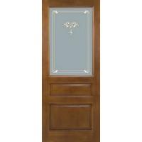 Дверь межкомнатная из массива сосны ДО 5 Коньяк