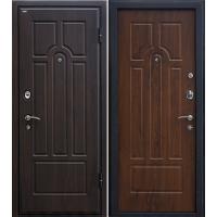 Металлическая входная дверь МеталЮр М5 темный орех