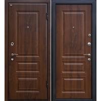 Металлическая входная дверь МеталЮр М11 темный орех