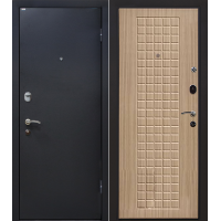 Металлическая входная дверь МеталЮр М22 беленый дуб